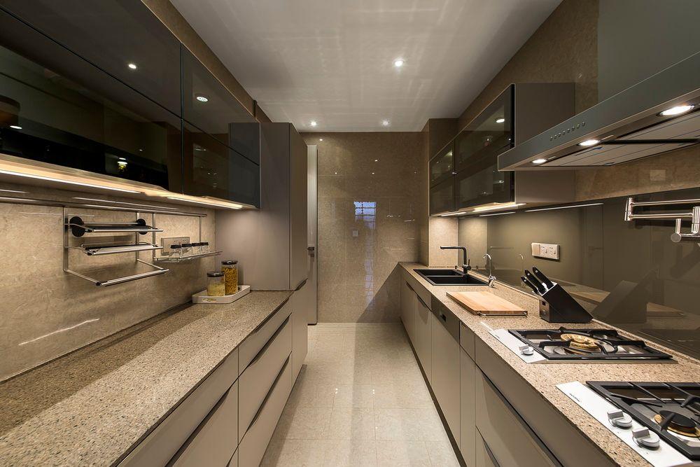 Cánh kính cường lực cho không gian bếp sang trọng